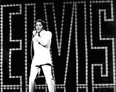 Photos  of Elvis Presley on Pinterst | Elvis Presley | NAME IN LIGHTS Elvis' 1968 comeback special was as ...