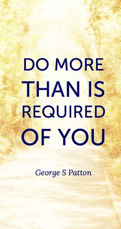 Do more than is requ