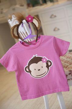 Pink Mod Monkey T-Shirt! So Cute! #Party #Clothes #BirthdayExpress