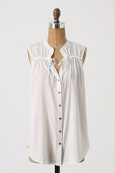 find a way to DIY this....Cinched Sloop Tank #anthropologie