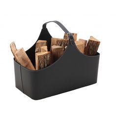 panier à bois alpha noir - DIXNEUF