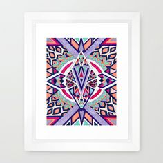Abstract Journey II Framed Art Print #geometric #poster #print #homedecor #decor #geometricart #moderndecor #forthehome #decorideas #interiordesign