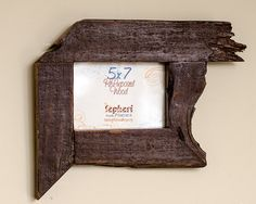 5x7 Repurposed Barn Board Picture Frame by Craig's Unique Frames on Etsy