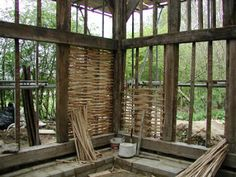 building with sticks and branches | Brit ., Dialectal a).a stick, rod, twig, or wand