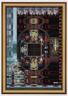 Poster Celebrating Anniversary of Tategumi Yokogumi Magazine - Tadanori Yokoo Tadanori Yokoo, Japanese Pop Art, Postmodern Art, Interior Design Photography, Art Database, 10 Anniversary, Film Stills, Moma, Psychedelic