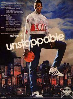 #PATRICK #EWING #POSTER #AD #1986 #adidas #NBA #unstoppable