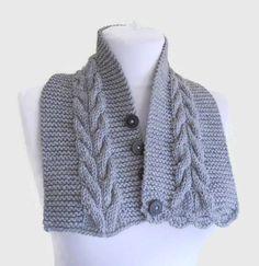Gray neckwarmer Men scarf cozy unisex winter by likeknitting Hand Knitting, Knitting Patterns, Sweater Hat, Men Scarf, Neck Warmer, Knit Crochet, Winter Fashion, Shawl, Unisex