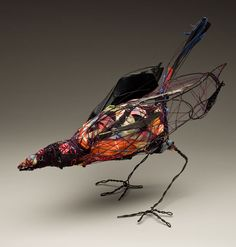 Wire fabric & yarn sculptures