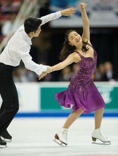 Maia Shibutani and Alex Shibutani- Ice Dancing costume inspiration for Sk8 Gr8 Designs, Skate America 2013