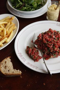 The key to finely chopping filet mignon for this classic beef  tartare is to chill it in the freezer before slicing and mincing it.