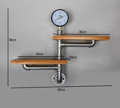 Amazon.de: Loft Retro Wall Racks industriellen Stil Regal Eisen Dekoration Wand 11#