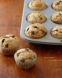 Chocolate chips make these banana muffins an extra-special breakfast or anytime treat.