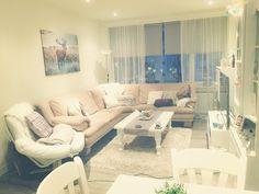My home. White interior. Earth tones. Cozy livingroom.