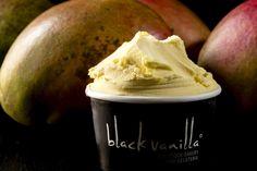 Black Vanilla ice cream