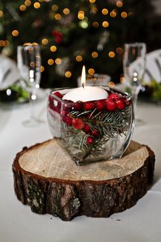Winter Wedding Centerpiece  #winterweddingcenterpiece  #winterweddingideas  #woodsywinterwedding
