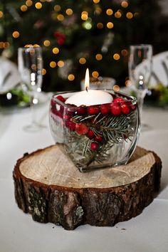 Winter Wedding Centerpiece #winterweddingcenterpiece #winterweddingideas #woodsywinterwedding