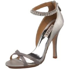 Badgley Mischka Decadence Crystal Sandal - Silver Satin