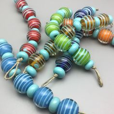 Cool round beads heading into the Etsy shop today!!