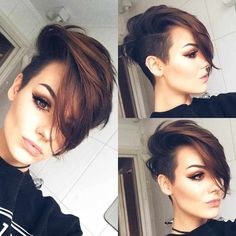 40 Latest Short Pixie Hairstyles For Women - - Short Hairstyles - Hairstyles 2019 On the off chance that you need to have your spot among the new patterns, you can endeavor to give your hair another look. In the event that you need to see the Girls Short Haircuts, Short Hairstyles For Women, Hairstyles With Bangs, Short Womens Hairstyles, Short Brown Haircuts, Undercut Hairstyles Women, Long Pixie Hairstyles, Female Hairstyles, Hairstyles Pictures