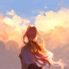 [achievement art] Trails in the Sky the Anime Art Girl, Manga Art, Anime Manga, Sad Art, Beautiful Anime Girl, Anime Scenery, Wonderful Images, Art Inspo, Watercolor Art
