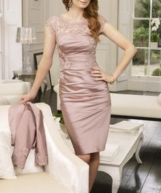 Lace short sleeve Mother of the bride Dress on Etsy, $135.00