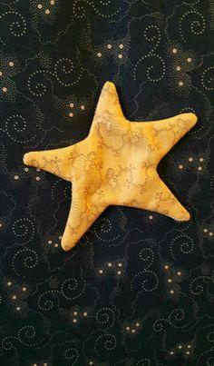 It was the night before...Fabric Christmas Village Merceria Titty Front desk: star 3D Appliquè
