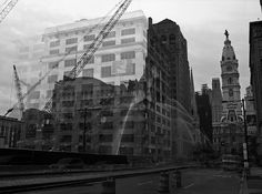 Andrew Evans. Ghostly Buildings Created by Combining Before and After Photos of Demolitions