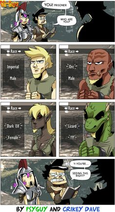 Character creation issues - Freaking out the Imperials! #funny