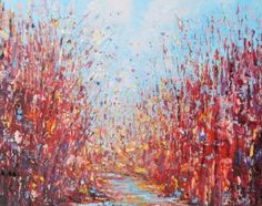 """Saatchi Art Artist Therese O'Keeffe; Painting, """"RED WOOD"""" #art"""
