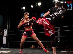 Maguy Berchel vs Audrey Kerouche #mma #fighters #kick #block #ring