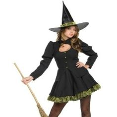 Sexy Wicked Witch of the West Halloween Costume +Hat