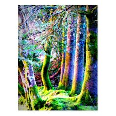 Shop Enchanted Forest Abstract Art Postcard created by Fanattic. Enchanted Forest, Forest, Photo, Postcard, Abstract Art, Paper Texture, Art, Abstract, Prints