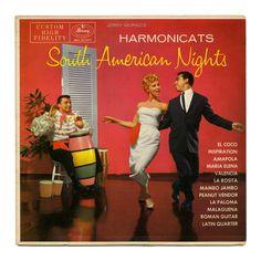 South American Nights Jerry Murad's Harmonicats Mercury Records/USA (1956) Lawrence Welk, Mercury Records, Lp Vinyl, Orchestra, Thrifting, Singing, Usa, Night, American