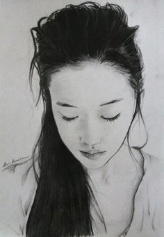Yu Aoi - Portrait by LucaHennig on DeviantArt Yu Aoi, Realistic Drawings, Female Art, Japanese, Deviantart, Image, Asian, Hair, Style