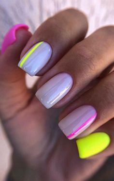 Square Nail Designs, Pretty Nail Designs, Colorful Nail Designs, Summer Nail Designs, Colorful Nail Art, Short Nail Designs, Square Acrylic Nails, Best Acrylic Nails, Best Nails