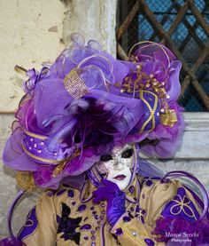 Purple carnival mask