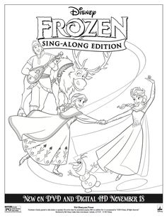 Disney Frozen Sing-along Coloring Sheet