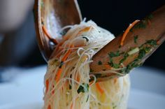 Vietnamese rice noodle salad is cool for summer. -food -recipes -food these are so awesome! you can do any stir fry etc dish because the noodles hold flavor almost individually per veggie etc. and filling! I Love Food, Good Food, Yummy Food, Tasty, Vietnamese Cuisine, Vietnamese Rice, Asian Recipes, Healthy Recipes, Asian Cooking