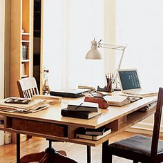 24 inspiring small homes | Stylish apartment: Office/dining room | Sunset.com