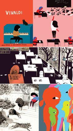 Vivaldi, written by Helge Torvund, illustrated by Mari Kanstad Johnsen. via Flavorwire Most Beautiful Child, Beautiful Children, Children's Book Illustration, Illustration Styles, Book Authors, Book Design, Childrens Books, Book Art, Screen Printing