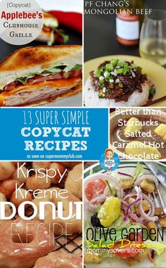 13 super simple copycat recipes - save money by making your favourite restaurant meals at home!
