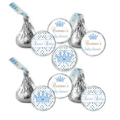CANDY STICKERS  Printable Prince Baby Shower Hershey by pinkthecat, $8.00