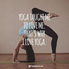 """<3 Yoga - """"Lo Yoga mi ha insegnato ad amarmi. Per questo io amo lo Yoga"""" :)"""