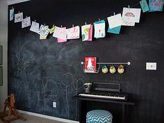 chalkboard wall for kids' play/study room