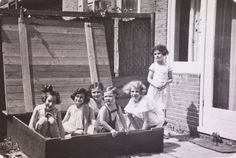"""Left to right: Hanneli Goslar (a.k.a., """"Lies Goosens"""" in early editions of the Diary), Anne Frank, Dolly Citroen, Hannah Toby, Barbara Ledermann and Susanne Ledermann (standing), Amsterdam, 1937.    Anne Frank's Friends: Photos of the Girls Who Lived   LIFE.com"""