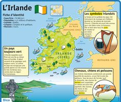 Educational IG on Ireland 2 French Language Learning, Learning Spanish, Teaching English, How To Speak French, Learn French, Guinness, Dublin, Medical Mnemonics, Geography Map
