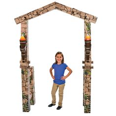 Kick off your awesome VBS adventure with a walk through this arch. Use this Awesome Adventure Arch as a dramatic deco. Wedding Supplies, Party Supplies, Vbs Themes, Christmas Pageant, Toy Craft, Luau Party, Oriental Trading, Booth Design, 8th Birthday