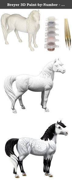 Breyer 3D Paint-by-Number - Dappled Grey Pony Toy [parallel import goods]. It's shipped off from Japan.