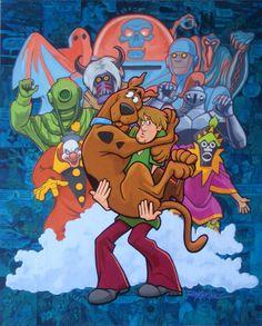 Monster Madness by Randy Martinez Halloween Wallpaper Iphone, Cartoon Wallpaper Iphone, Disney Wallpaper, Looney Tunes Cartoons, 90s Cartoons, Classic Cartoon Characters, Classic Cartoons, Cartoon Drawings, Cartoon Art