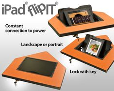 This iPad accessory is built-in to the classroom furniture to provide iPad security, a constant connection to power, and complete freedom to use iPad features.
